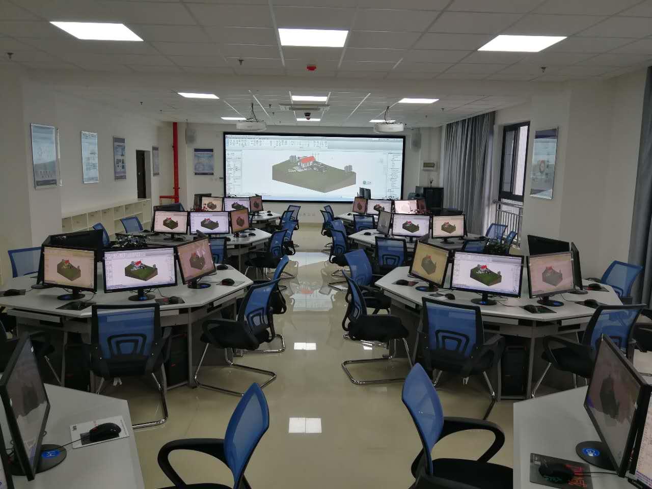 工程测量实训室简介_建筑与测绘工程学院bim实训室3d全景模型