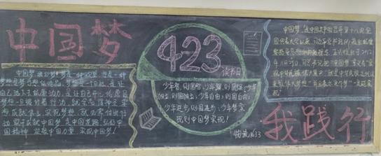 """""""励志中国梦 勤勉读书行""""主题黑板报"""